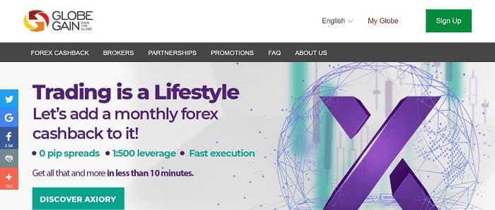(4) Globe Gain | High Forex Rebates | Forex Cashback