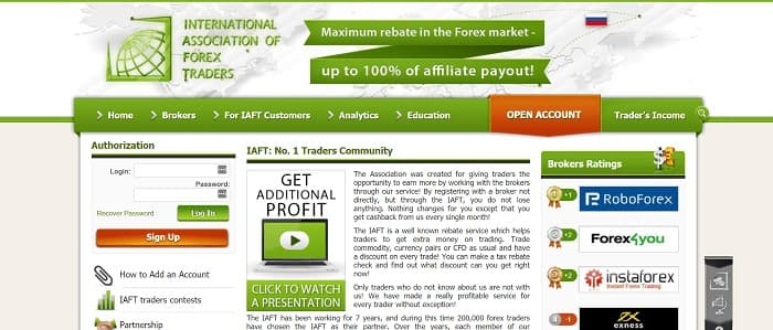 (6) IAFT | Forex Brokers Rating - Best Forex Brokers, Reviews and Comments