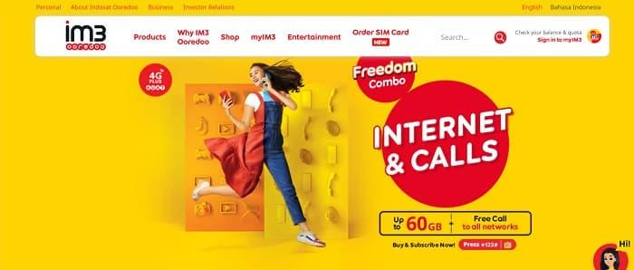 IM3 Ooredoo Indonesia Cellular Internet Provider (Indosat Ooredoo)