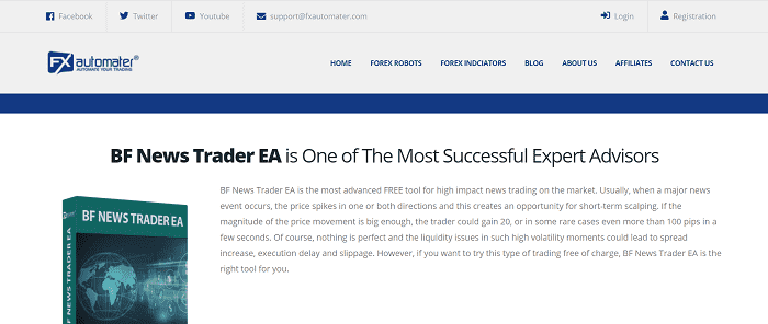 BF News Trader EA | from FXautomater