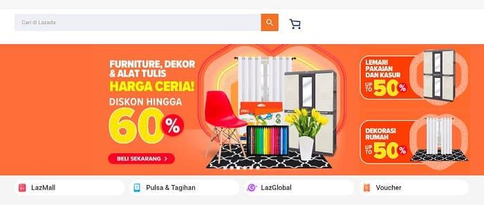 インドネシアのECサイト4位 - Lazada Indonesia