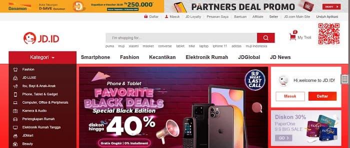 インドネシアのECサイト7位 - JD.id