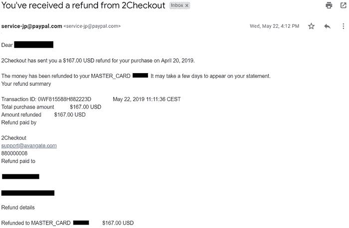 60日間無条件返金保証による「Volatility Factor 2.0 Pro」の返金方法