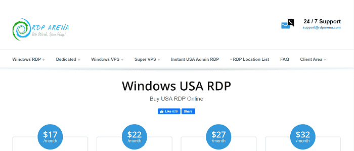 (5) RDP ARENA | USA Windows RDP VPS - Cheap usa vps - VPS 1gbps - Cheap windows vps - Windows vps with remote desktop | Plans starting from 15$ Only