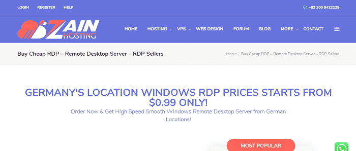 (5) Zain Hosting | Buy Cheap RDP - Remote Desktop Server