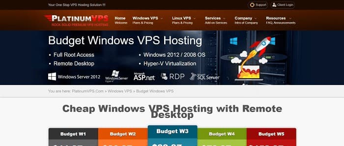 (2) PlatinumVPS | Cheap Windows VPS Hosting with Remote Desktop (RDP) Access