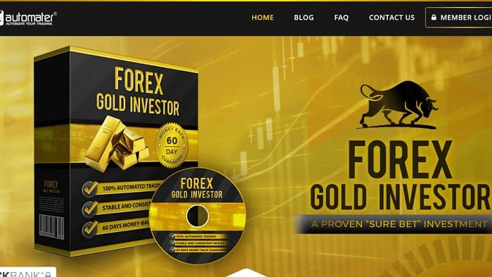 金取引[XAUUSD]専用EA①:Forex GOLD Investor