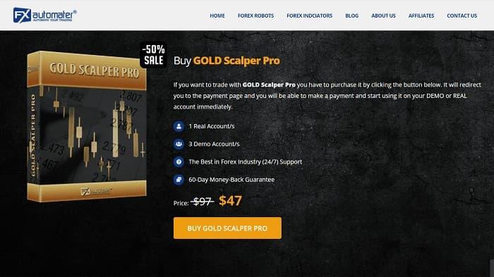 金取引[XAUUSD]専用EA②:GOLD Scalper Pro