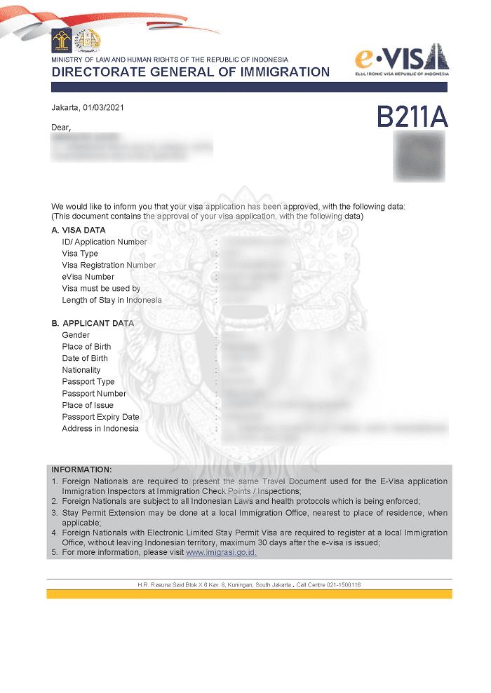手順③:ソシアルビザ取得完了後、エージェントからE-VISAを受取る
