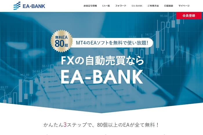 IS6FXで使える無料サイトもあります【EA-BANK】